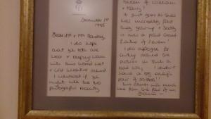 Brief von Lady Diana aus dem Jahr 1985
